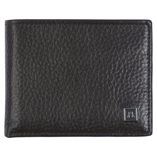 Billfold with ID Pullout - Pebble Cowhide Leather