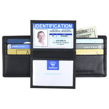 Load image into Gallery viewer, Billfold with ID Pullout - Pebble Cowhide Leather