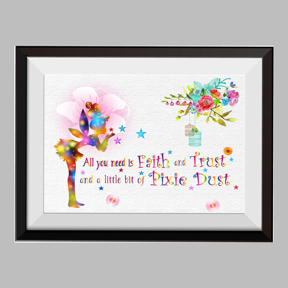 Nursery Ideas And Décor To Inspire You: Fairy All You Need Is Faith And Trust Watercolor Print