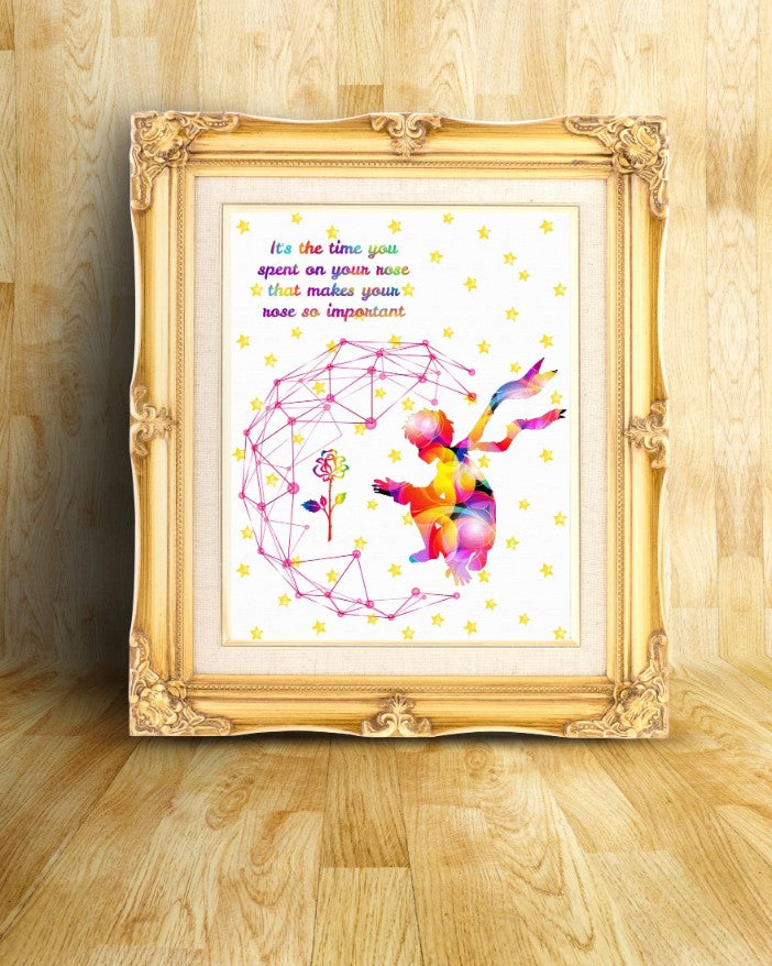 Items Similar To The Little Prince Quote Inspirational: The Little Prince Fox Le Petit Prince Watercolor Print