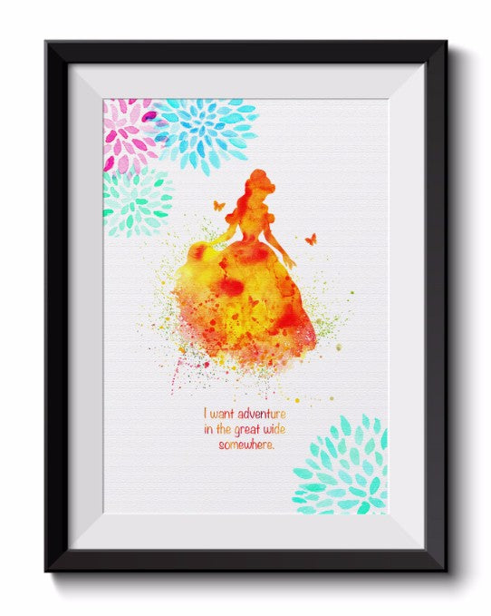 Beauty And The Beast Princess Belle Beauty Beast Wall Decor