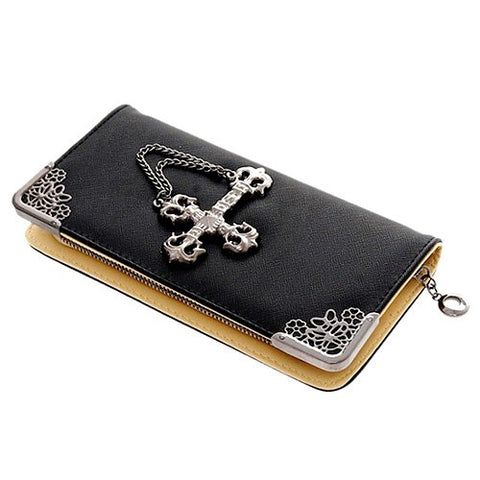BoneChiller Cross Design Women Wallet Special-Black-02