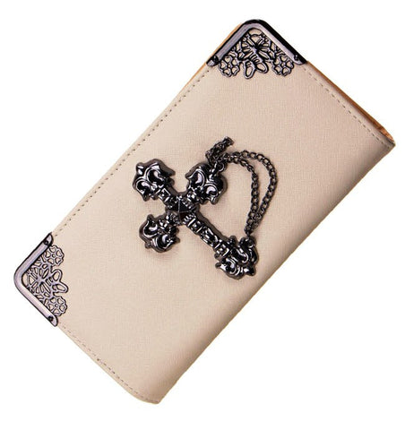 BoneChiller Cross Design Women Wallet Special-Beige