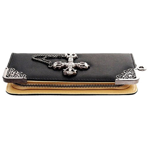 BoneChiller Cross Design Women Wallet Special-Black-03