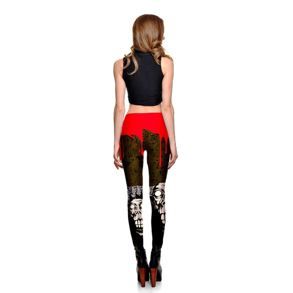 BLOOD DRIPPING SKULLS  LEGGINGS