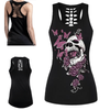Death By Butterfly Skull 3D Print Tank Top