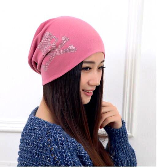 Fashion Diamond Skull Pattern Beanie