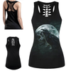 Moonlight Crow Skull 3D Print Tank Top