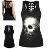 Railway Skull Illusion 3D Print Tank Top
