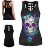 Rose Bush Skull 3D Print Tank Top