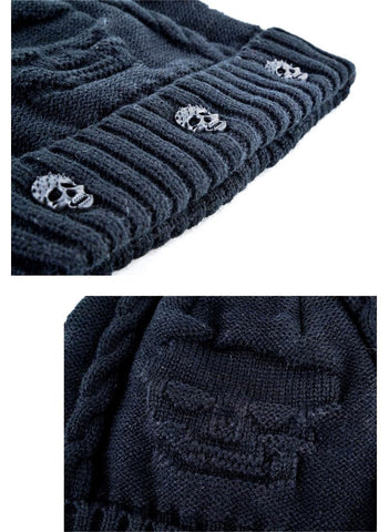 Unisex Super Cool Warm Skull Beanie