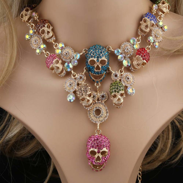 Skullastic Crystal Skull Pendant Necklaces