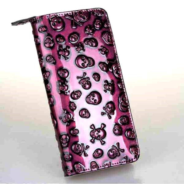 Skulls Embossed Clutch Wallet