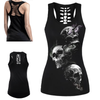 Triple Threat Skull 3D print Tank Top