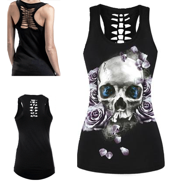 Deadly Skull Eyes 3D Print Tank Top