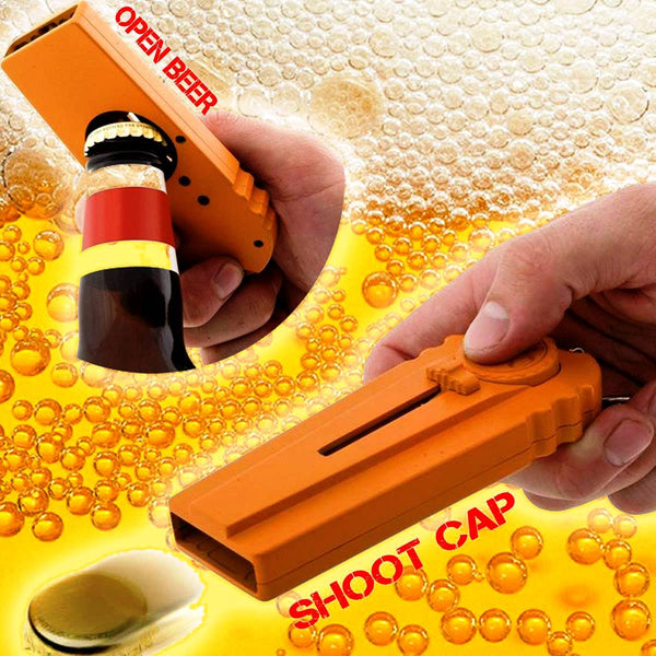 Beer Bottle Cap Shooter (With Keyring)