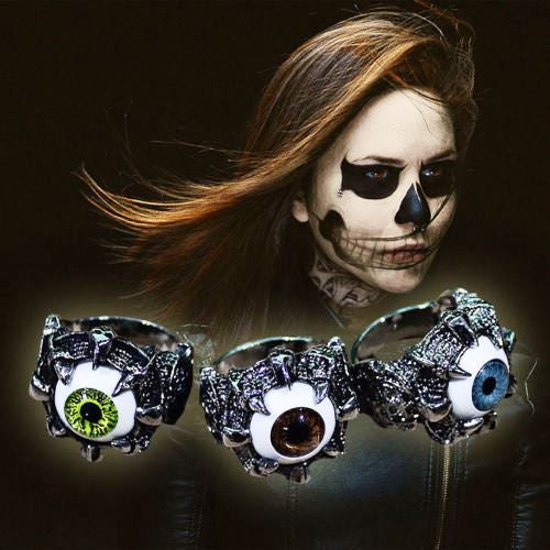 "Unisex ""Eye Opening""  Gothic Eyes Claw Ring"
