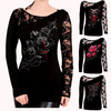 FATAL ATTRACTION LONG SLEEVE LACE SHIRT