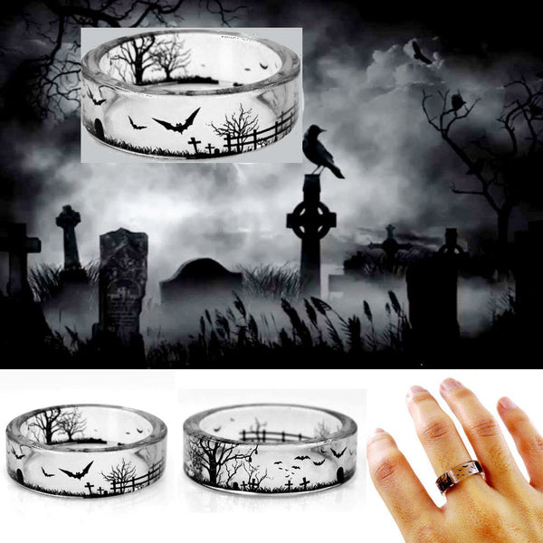 Beautiful Scenery Handmade Transparent Ring