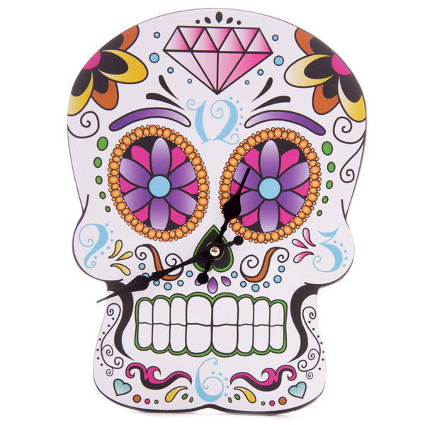 Day Of The Dead Skull Wall Clock