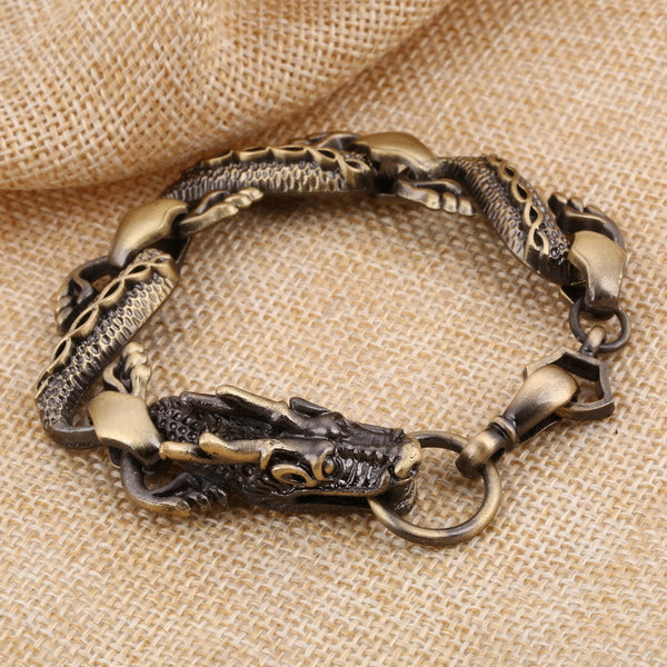 Eternal Black Fire Dragon Beads Bracelet