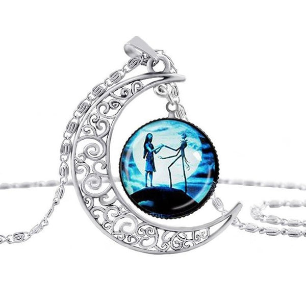 Jack Hollow Moon Glass Chain Necklace
