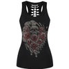 Deadly Roses Skull 3D Print Tank Top