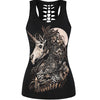 Unicorn Skull 3D Print Tank Top