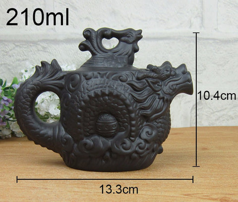Handmade Purple Clay Dragon Tea Pot
