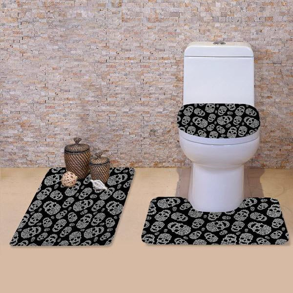 Supercute Toilet Seat Washroom Skull Set