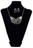 "Gothic Silver ""BONE CLAW"" Necklace/Earrings Set"