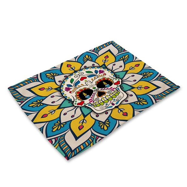 Colorful Skull Dining Placemats