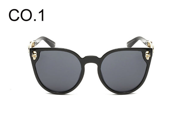Luxury Fashion Skull Designer Women Sunglasses