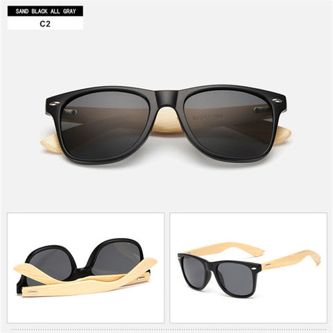 Stylish Vintage Bamboo Sunglasses