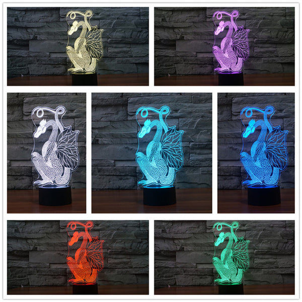 Sitting Dragon 3D LED Lamp