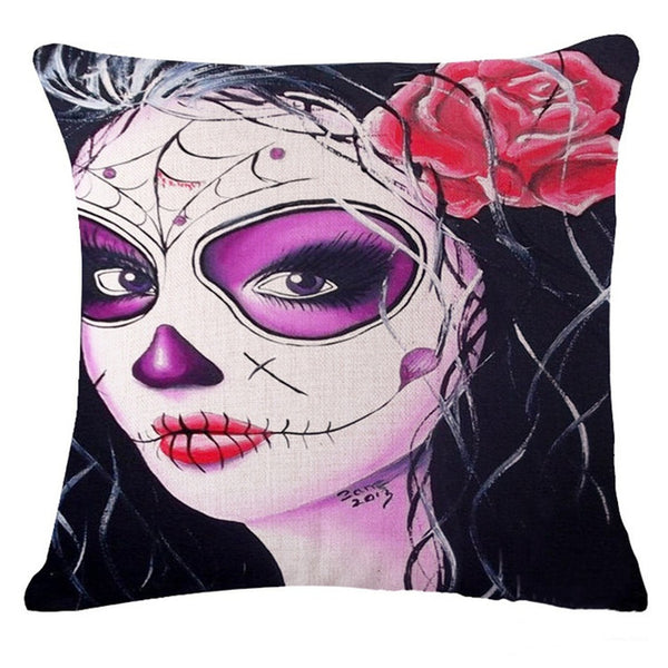 Skull Day of the Dead Masquerade Pillow Cover