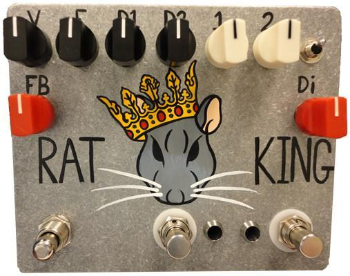 Fuzzrocious Rat King Pedal - Momentary Feedback Mod