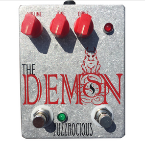 Fuzzrocious Demon Pedal - Gate/Boost Mod *Bare Aluminum Enclosure*