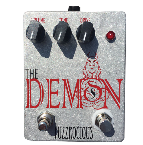 Fuzzrocious Demon Pedal - Killswitch *Bare Aluminum Enclosure*