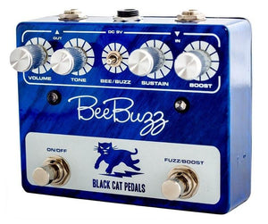 Black Cat Pedals Bee Buzz Fuzz - Blue