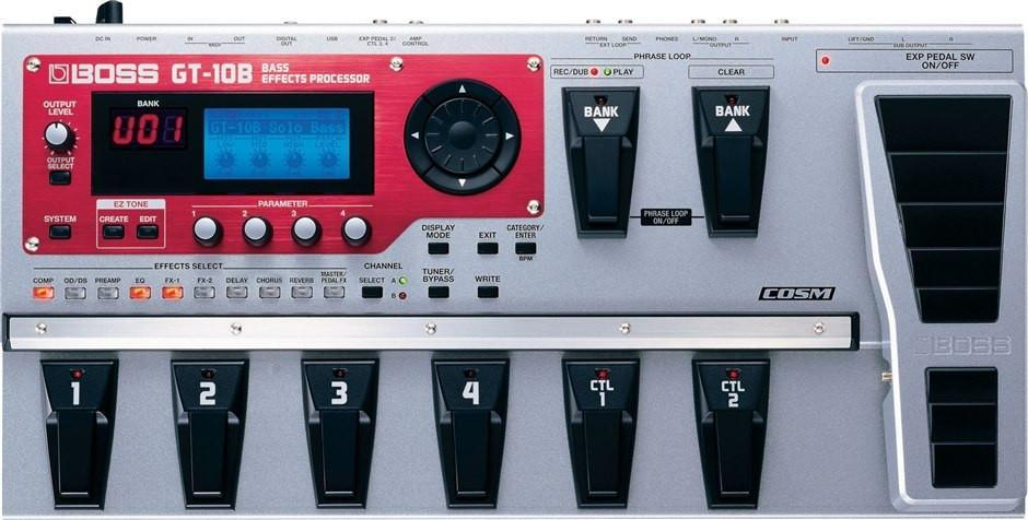 BOSS GT-10B Bass Effects Processor