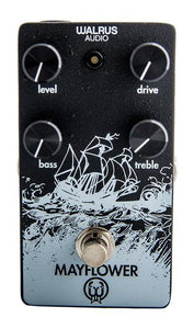 Walrus Audio Mayflower Overdrive - Black Texture with White Ink