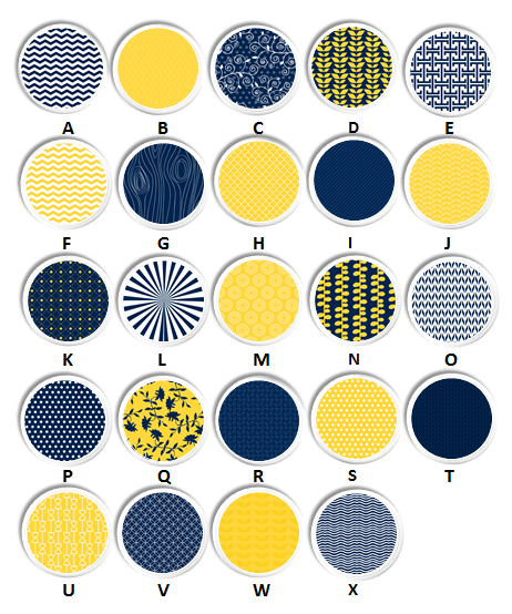 Coordinated color knob collection Navy Blue, Yellow, WHite