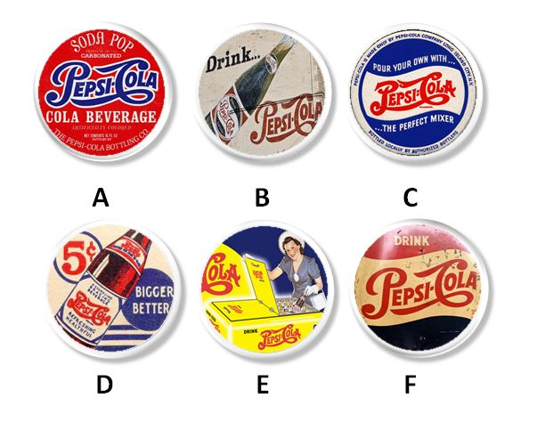 Vintage Pepsi Cola Kitchen Drawer Pulls - Antique Farmhouse Decor