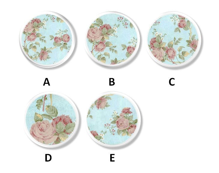 shabby cottage style floral knobs and pulls