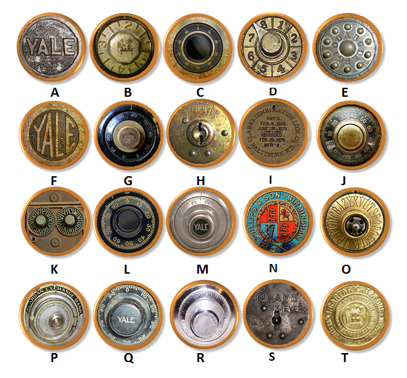 Vintage Office Decor Antique Safe Drawer Pulls