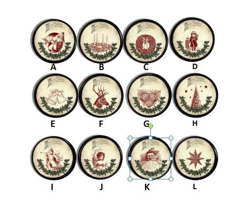 Primitive Christmas Vintage Inspired Knobs | Pulls - No. 815U33