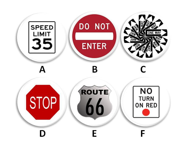 Street Sign Knobs | Pulls - No. 115A10