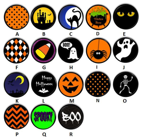 Bright & Cheerful Kid Friendly Halloween Knobs | Pulls - No. 816N23 - Handcrafted 360
