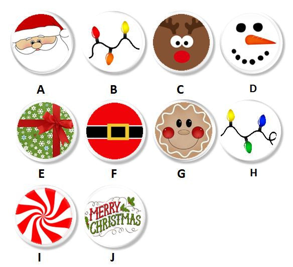 Christmas Fun Childrens Holiday Character Knobs | Pulls - No. 816N13 - Handcrafted 360